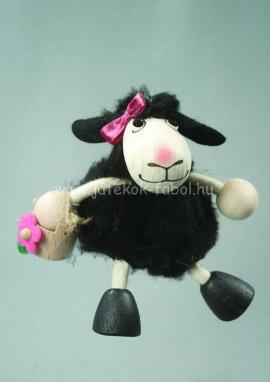 Bárány lány, fekete bundás, kis kosárral