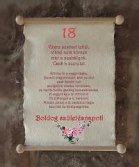 18. születésnapra