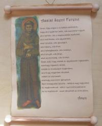 Uram, tégy engem...(Assisi Szent Ferenc imája)